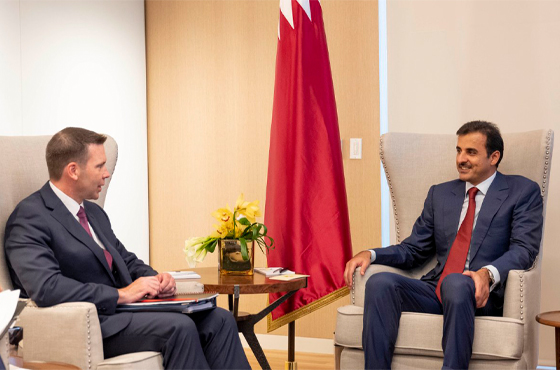 HH the Amir met with Acting Secretary of Homeland Security