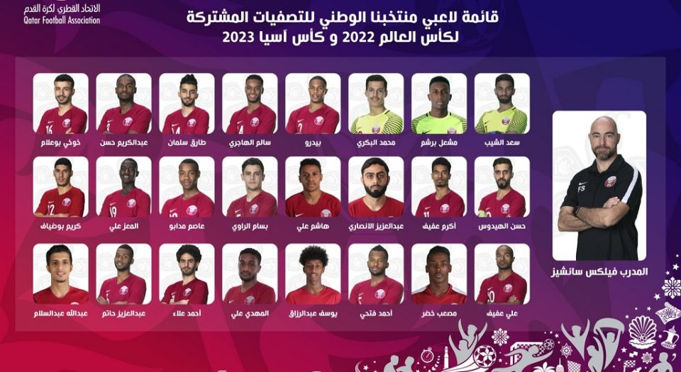 Qatar Squad for Qualifiers vs Afghanistan & India
