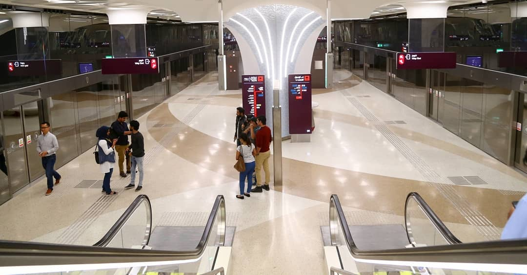 Doha Metro, a preview service for the first part of the Red Line